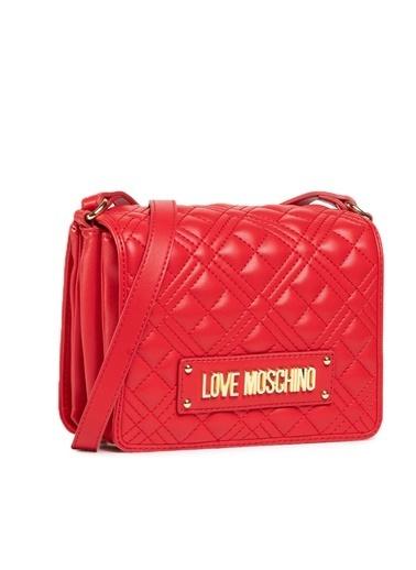 Love Moschino   Kapitoneli Ayarlanabilir Omuz Askılı Çanta Kadın Çanta Jc4002Pp1Cla0500 Kırmızı